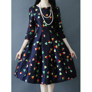 Ruched Heart Pattern Ball Dress