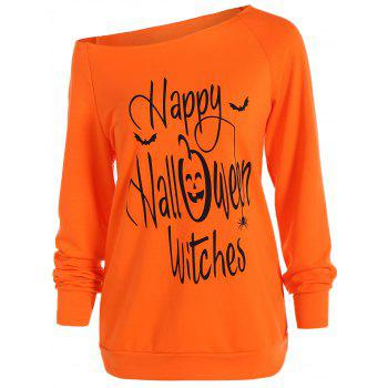 Halloween Graphic Pullover Sweatshirt