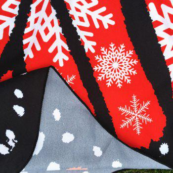 Christmas Snowflake Print Butterfly Scarf - RED