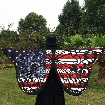 American Flag Butterfly Scarf