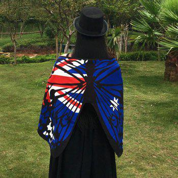 Australian Flag Butterfly Scarf - ROYAL