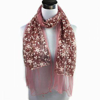 Wintersweet Embroidery Lace Scarf