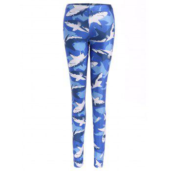 Shark Print Bodycon Leggings