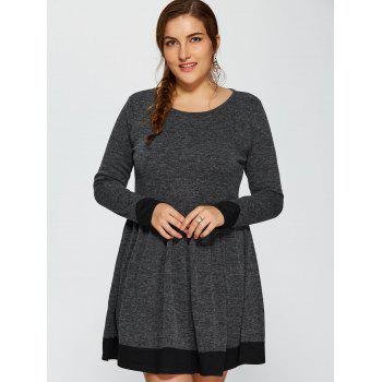 Contrast Trim Plus Size Dress - XL XL