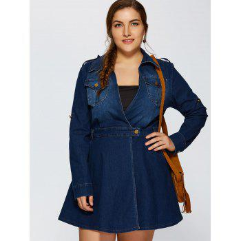 Front Pockets A Line Jean Dress - 2XL 2XL