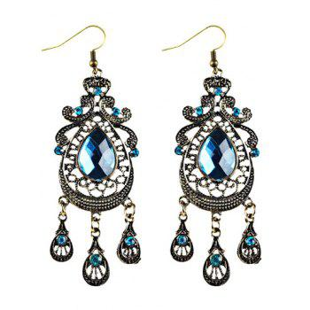 Faux Crystal Filigree Chandelier Earrings