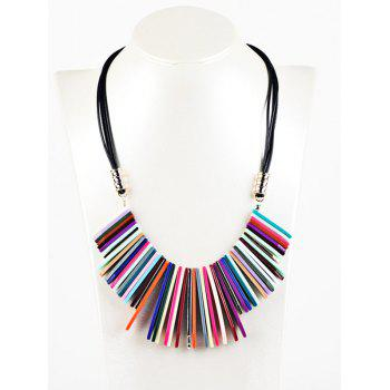 Bohemian Geometric Color Block Pendant Necklace