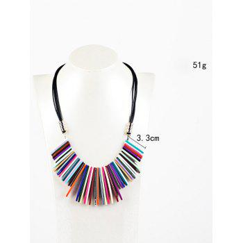 Bohemian Geometric Color Block Pendant Necklace - COLORMIX
