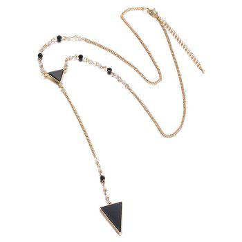 Fuax Crystal Triangle Pendant Y Necklace