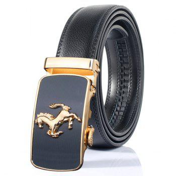 Stylish Emboss Horse Shape Automatic Buckle Wide Belt