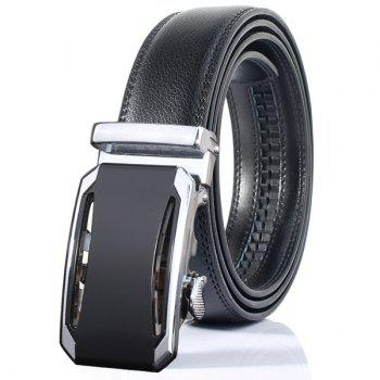 Faux Leather Stylish Automatic Buckle Wide Belt