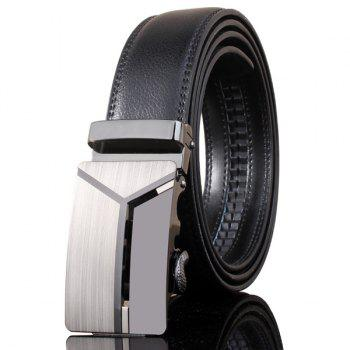 Stylish 3D Y Shape Polished Automatic Buckle Wide Belt