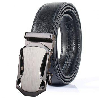 Polished Stylish Automatic Buckle Wide Belt - FROST FROST
