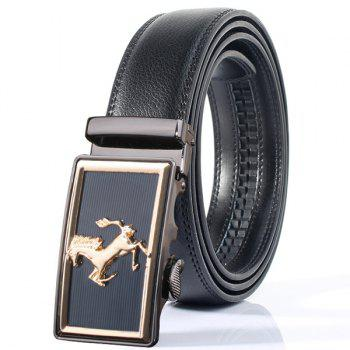 Rectangle Horse Shape Stylish Automatic Buckle Wide Belt