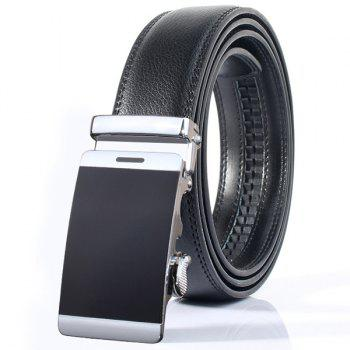 Smooth Surface Stylish Automatic Buckle Wide Belt