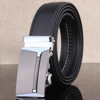 Polished Rectangle Automatic Buckle Stylish Wide Belt