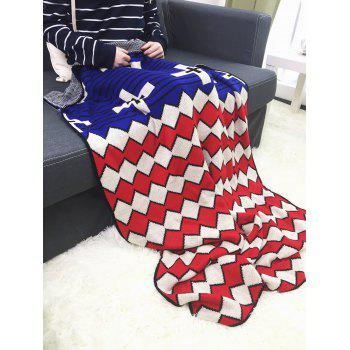 Wave Stripe Knitted Native American Inspired Throw Blanket