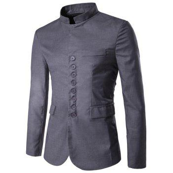 Single Breasted Stand Collar Simple Blazer