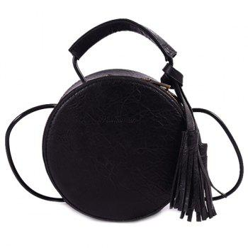 Zip Around PU Leather Tassel Canteen Bag