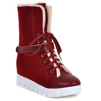 Lace Up Increased Internal Ankle Boots