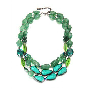 Multilayers Faux Crystal Beads Necklace