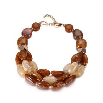 Multilayers Faux Ceramic Beads Necklace