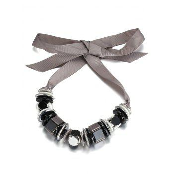 Alloy Geometric Bowknot Choker Necklace