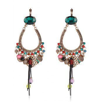 Retro Rhinestone Tassel Drop Earrings
