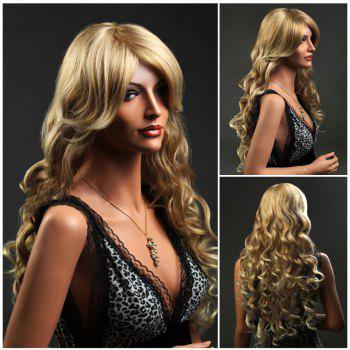 Sparkling Long Wavy Side Bang Synthetic Wig