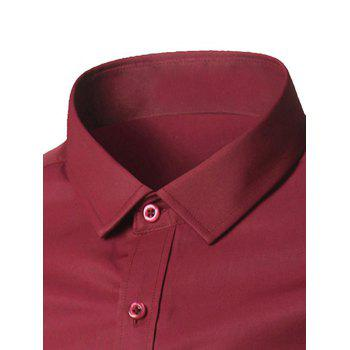 Button Up Chest Pocket Plain Shirt - PINK PINK