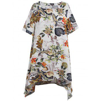 Asymmetrical Printed Mini Casual Dress