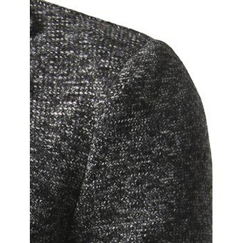 Flap Pocket Texture Back Vent Two Button Coat - DEEP GRAY 2XL