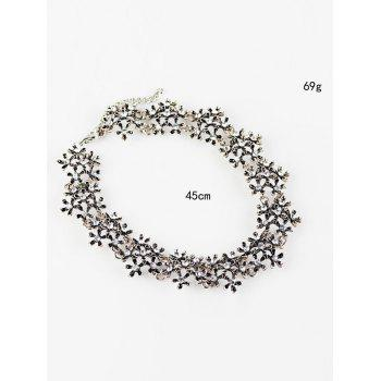 Strass Snowflake Collier Choker - Argent