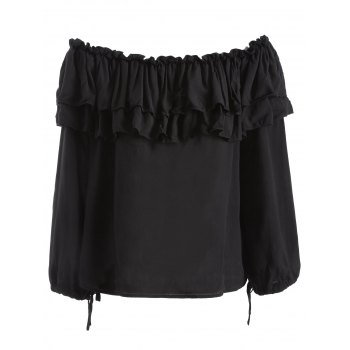 Off The Shoulder Ruffles Loose Blouse