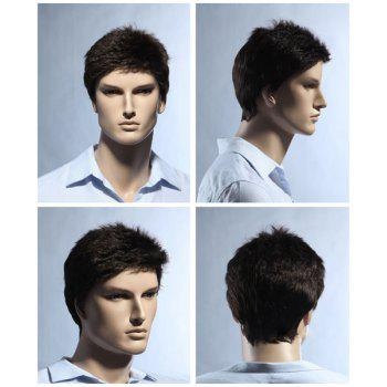 Men's Pixie Cut Short Fluffy Straight Synthetic Wig