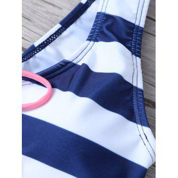 Lace Up Striped Bikini - Rayure XL