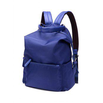 Splicing Zippers Double Buckle Backpack