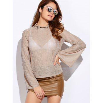 Turtle Neck Back Cutout Lace Up Knitwear