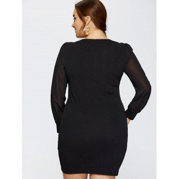 Plus Size Long Sleeve Ruched Dress - XL XL