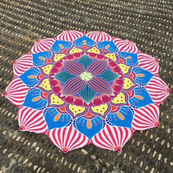 Merry Christmas Retro Lantern Flower Shape Beach Throw