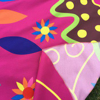 Ethnic Colorful Butterfly Scarf - ROSE MADDER