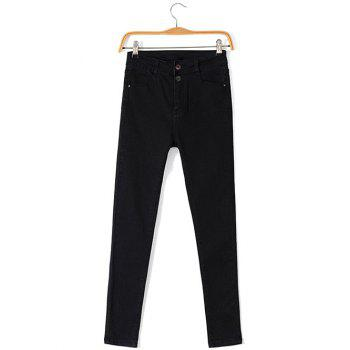 Plus Size Fleece Four Pockets Jeans
