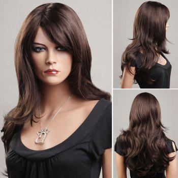 Gorgeous Long Wavy Side Bang Synthetic Wig