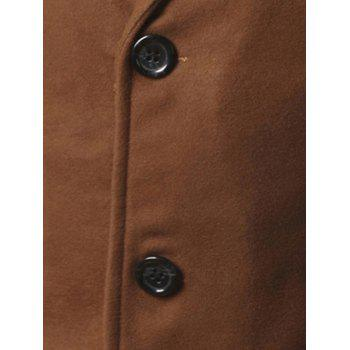Retour Vent Coat Notch Lapel Woolen - Camel 2XL