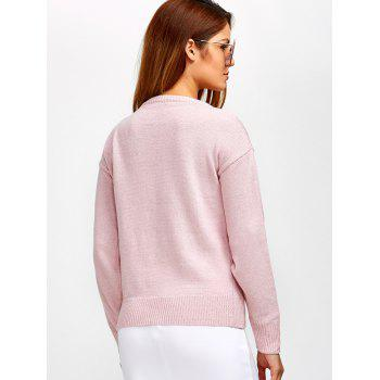 Lace-Up Loose Casual Sweater - ONE SIZE ONE SIZE