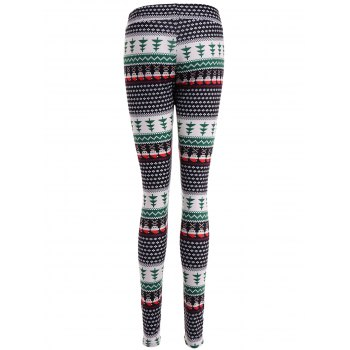 Ornate Print Slim Fit Leggings - COLORMIX XL