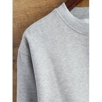 Raw Edge Cropped Sweatshirt - GRAY M