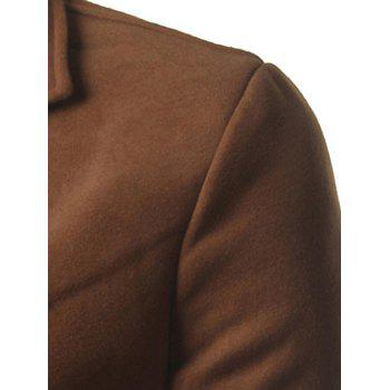 Back Vent Notch Lapel Woolen Coat - CAMEL 2XL