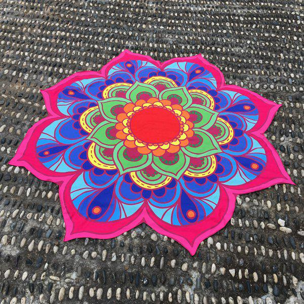 Lotus Flower Shape Beach Throw sunbath mandala lotus beach throw cover