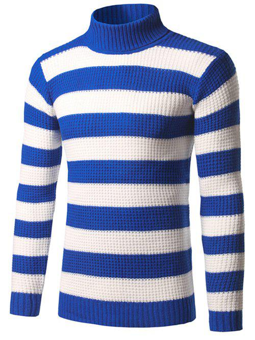 Texture Turtleneck Striped Sweater eglo подсветка для зеркал eglo sticker led 95832